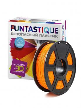 Пластик в катушке (PETG,1.75 мм.) оранжевый, Funtastique, 1 кг., картон
