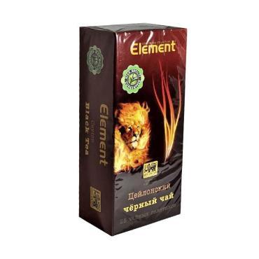 Чай черный 25 пакетов, Element, картон