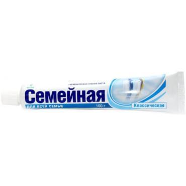 Зубная паста Весна Семейная, 100 гр., пластиковая туба