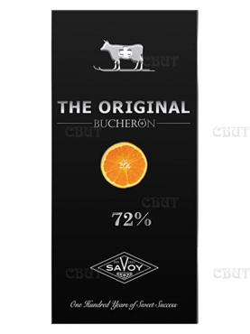 Шоколад горький с кусочками апельсина Bucheron The Original, 100 гр., картонная коробка