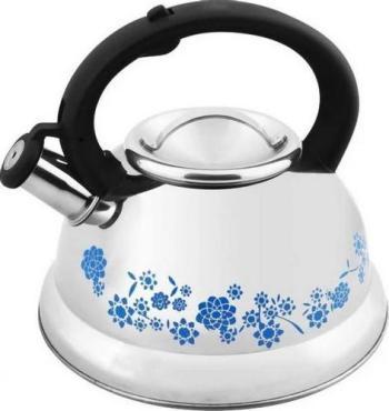 Чайник из нержавеющей стали с рисунком, меняющим цвет, 3 л., со свистком, капсульное дно Mallony MAL-0417B, картон