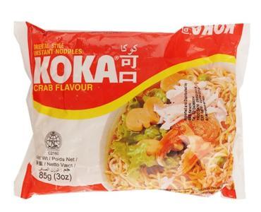 Лапша со вкусом краба Original KOKA, 85 гр., флоу-пак