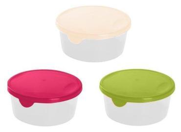 Емкость для хранения и заморозки продуктов круглая 0,5 л., микс Giaretti Браво