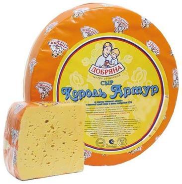 Сыр 50% Добряна Золото Артура 4 кг., оболочка