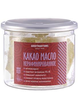 Какао масло нерафинированное, GOODTRADITIONS, 200 гр., стекло