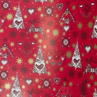 Бумага оберточная 700 мм., 30 м., в рулоне PapStar Рождественские украшения