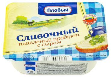 Продукт плавленный с сыром сливочный Плавыч, 180 гр., пластиковый контейнер