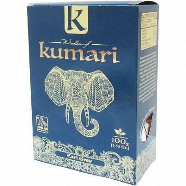 Чай Эрл Грей, чёрный листовой с добавками Wisdom of Kumari, 100 гр., картон