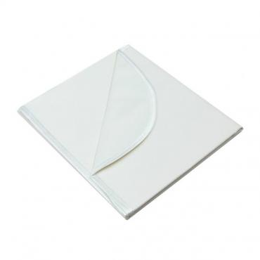 Клеенка подкладная с ПВХ покрытием с резинкой-держателем белая 1 х м, Колорит, 150 гр., пакет