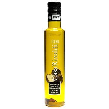 Масло оливковое с кусочками трюфелей  Extra Vergine, Casa Rinaldi, 250 мл, стекло