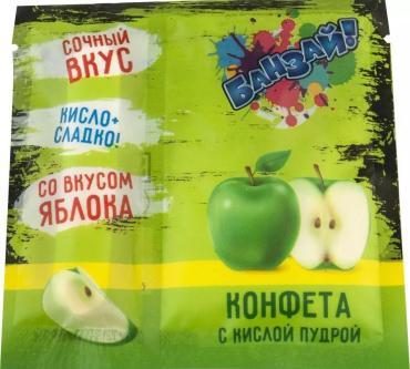 Карамель с кислой пудрой, Конфитрейд Банзай, 14 гр., пластиковый пакет