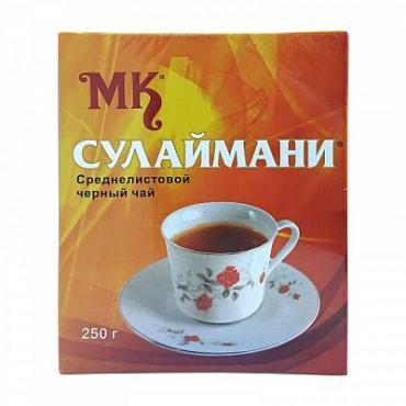 Чай черный, листовой МК Сулаймани, 250 гр., картон