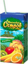 Сок яблочно-персиковый Фруктовый Остров, 500 мл., тетра-пак