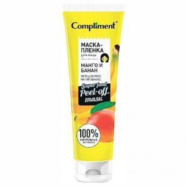 Маска-пленка для лица Манго и Банан немедленное матирование Compliment Super Food, 100 мл., пластиковая туба