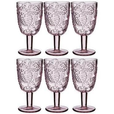 Набор бокалов для вина, сиреневый, 6 штук, 300 мл., Lefard Джангл Muza color