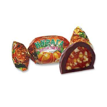 Конфеты Курага шоколадная с арахисом Кремлина, 1 кг., пластиковый пакет