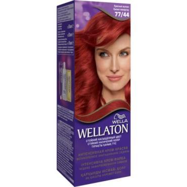 Краска для волос 77/44 красный вулкан Wellaton, картон