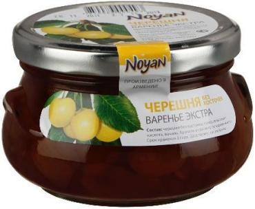 Варенье из белой черешни, экстра, Армения,Noyan 450 гр., стекло