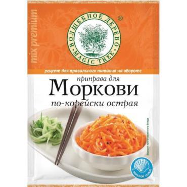 Приправа д/морк по/корей острая,Волшебное дерево, 30 гр., флоу-пак