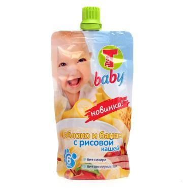 Пюре Теди Baby Яблоко и банан с рисовой кашей