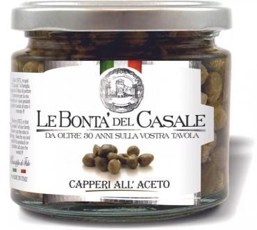 Каперсы Le Bonta del Casale в винном соусе , 212 мл, стекло