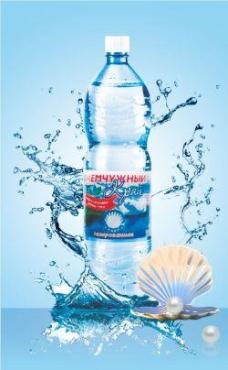 Вода минеральная лечебно-столовая газированная Жемчужный край, 500 мл., ПЭТ