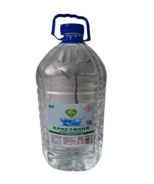 Природная питьевая вода не газированная, Кристалия, 5 л., ПЭТ