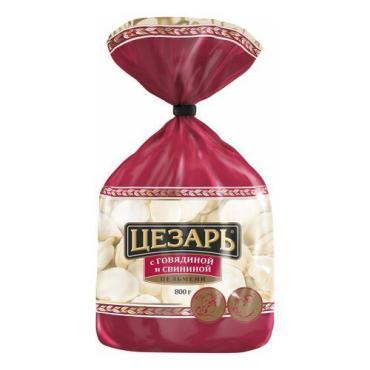 Пельмени Цезарь с говядиной и свининой, 800 гр, флоу-пак