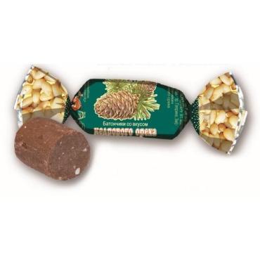 Карамель леденцы кедровые орешки Батончики, Южуралкондитер, 1 кг., пластиковый пакет