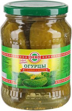 Огурцы ДЕко консервированные на лимонной кислота, 950 гр., стекло