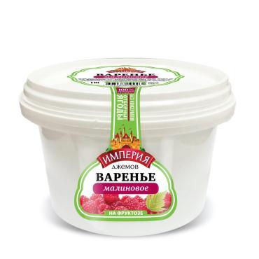 Варенье Империя Джемов малиновое на фруктозе, 1 кг., пластиковая банка