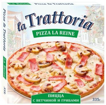 Пицца La Trattoria Ветчина и грибы замороженная, 335 гр., картон