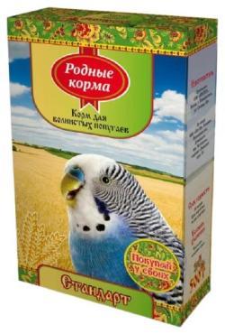 Корм для волнистых попугаев Родные корма Стандарт, 500 гр., картон