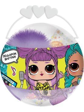 Карамель Конфитрейд LOL с брелком 2D в пластиковом шаре, 15 гр., пластиковая банка