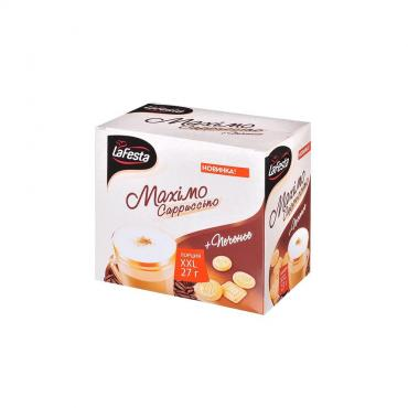 Кофе растворимый La Festa, Maximo Cappuccino с печеньем, 270 гр., картон