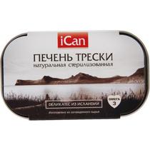 Печень трески iCan подкопченная 120 г