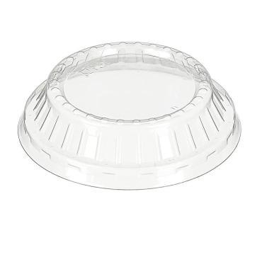 Крышка Комус, одноразовая d 95 мм., h 25 мм., прозрачная, ОПС, 1300 шт., пластиковая упаковка