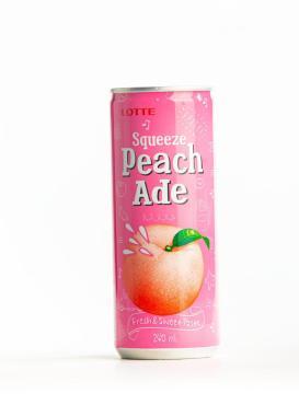 Напиток Lotte, Squeeze сокосодержащий фруктовый, персик, 240 мл., ж/б