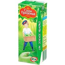 Сок зеленое яблоко, с 4 месяцев Сады Придонья, 200 мл., Тетра-пак