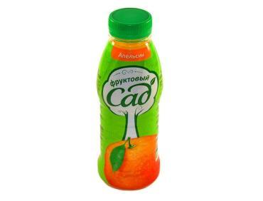 Сок апельсин Фруктовый Сад, 385 мл., Пластиковая бутылка