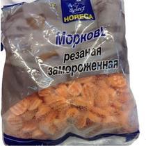 Морковь резаная замороженная Horeca Select 1 кг., Флоу-пак