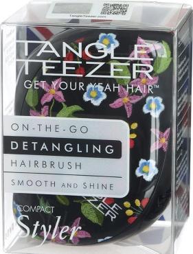 Расческа Tangle Teezer Compact Styler Embroidered Floral черный