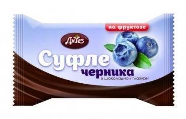 Суфле ДиYes черничное в шоколадной глазури на фруктозе