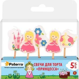 Свечи для торта Paterra Принцесса 5шт.