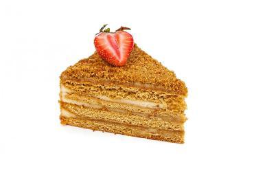 Пирожное Слоянка Медовик с карамельным вкусом и нежным кремом