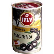 Маслины Itlv черные резанные