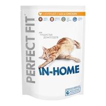 Корм сухой для домашних кошек, с курицей Perfect Fit 1.2 кг. Дой-пак