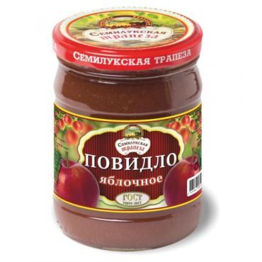 Повидло Семилукская трапеза Яблочное, 600 гр., стекло