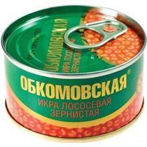 Икра Лососевая зернистая, Обкомовская, 140 гр., Жестяная банка
