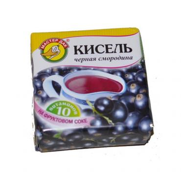 Кисель Черная смородина брикет Мастер Дак Вишня, 180 гр., обертка